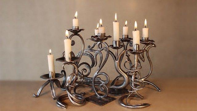 chandelier avec 7 bougies