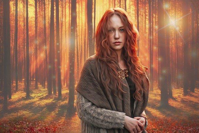 magicienne dans la forêt
